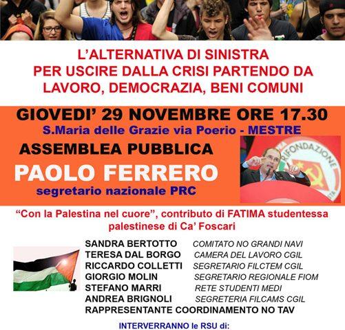 ASSEMBLEA PUBBLICA CON PAOLO FERRERO